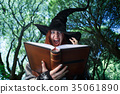 Image of witch casting spell 35061890