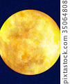 달, 수채화, 월 35064808