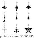 earrings icon set 35065585