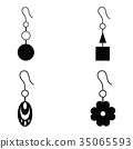 earrings icon set 35065593