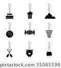 earrings icon set 35065596