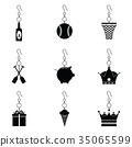 earrings icon set 35065599