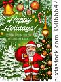 christmas santa vector 35066642