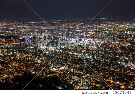 Japan's new three major night views Sapporo Moga, Sapporo, Japan