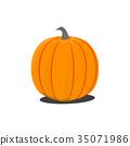 Vector color illustration of cartoon Halloween 35071986