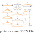 Set of hangers - modern vector realistic isolated 35072494
