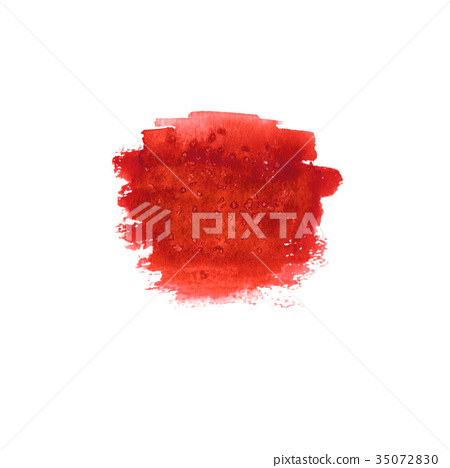 Abstract blood red stain 35072830