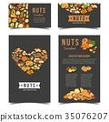 Vertical posters for vegan nut nutrition. 35076207