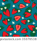 Vector seamless pattern with Strawberries 35076538
