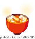 miso soup, food, pork soup 35079205
