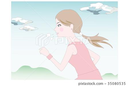 Jogging girl 35080535