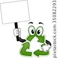 Recycle Mascot Board Illustration 35082293