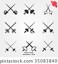 Fencing icons 35083840