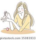 成熟的女人 一個年輕成年女性 女生 35083933