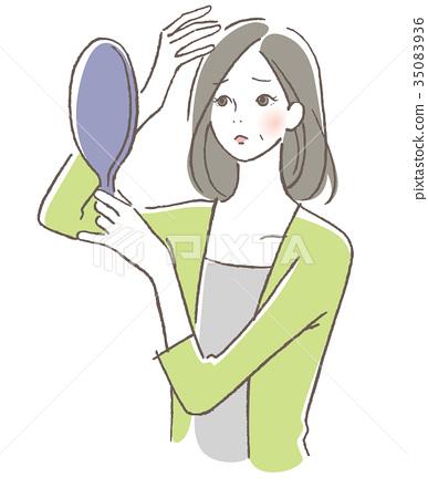 女人頭髮麻煩 35083936
