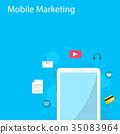 marketing, vector, icon 35083964