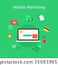 marketing, vector, icon 35083965