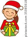 聖誕老人女人禮物 35085618