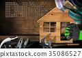 Diy Symbol - Work Tools and Model House 35086527