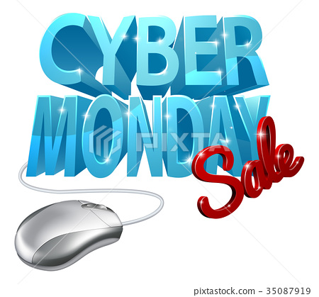 Cyber Monday Sale Computer Mouse Sign 35087919