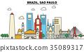 Brazil, Sao Paulo. City skyline architecture 35089317