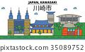 Japan, Kawasaki. City skyline architecture 35089752
