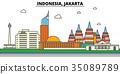 Indonesia, Jakarta. City skyline architecture 35089789