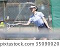 打网球的女人 35090020