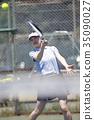 打网球的女人 35090027