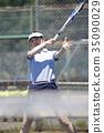 打网球的女人 35090029