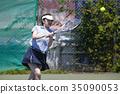 打网球的女人 35090053