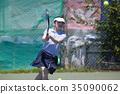 打网球的女人 35090062
