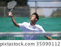 打網球的人 35090112