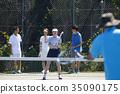 网球 网球场 人 35090175