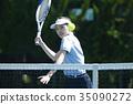 打網球的女人 35090272