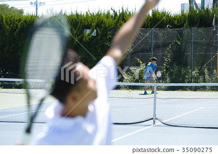 打網球的人 35090275