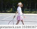 网球场的女人 35090367