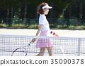 网球场的女人 35090378
