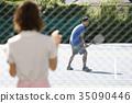 网球 网球选手 网球场 35090446