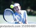 打網球的女人 35090480