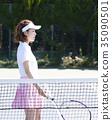 网球场的女人 35090501