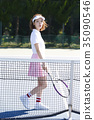 网球场的女人 35090546