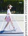 网球场的女人 35090550