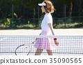 网球场的女人 35090565