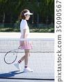 網球場的女人 35090567