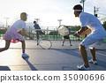 晚上 晚間 網球 35090696