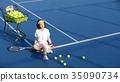 網球場的女人 35090734