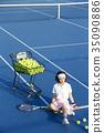 网球场的女人 35090886