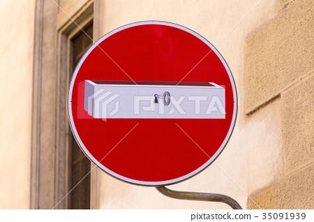 Road sign, street art 35091939