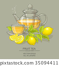leaf, lemon, vector 35094411